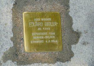 Eduard Bigler Stolperstein