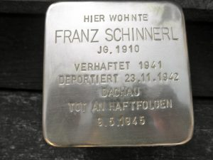 Franz Schinnerl Stolperstein