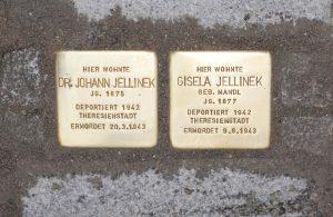 Gisela und Johann Jellinek Stolpersteine