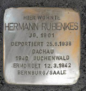 Hermann Rubenkes Stolperstein