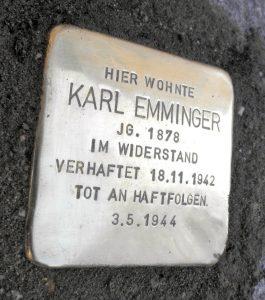 Karl Emminger Stolperstein