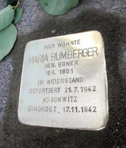 Maria Bumberger Stolperstein